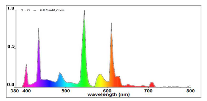 Wavelength of light chart